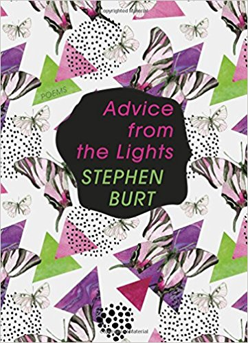 Advice from the Lights book cover with butterflies and geometric shapes